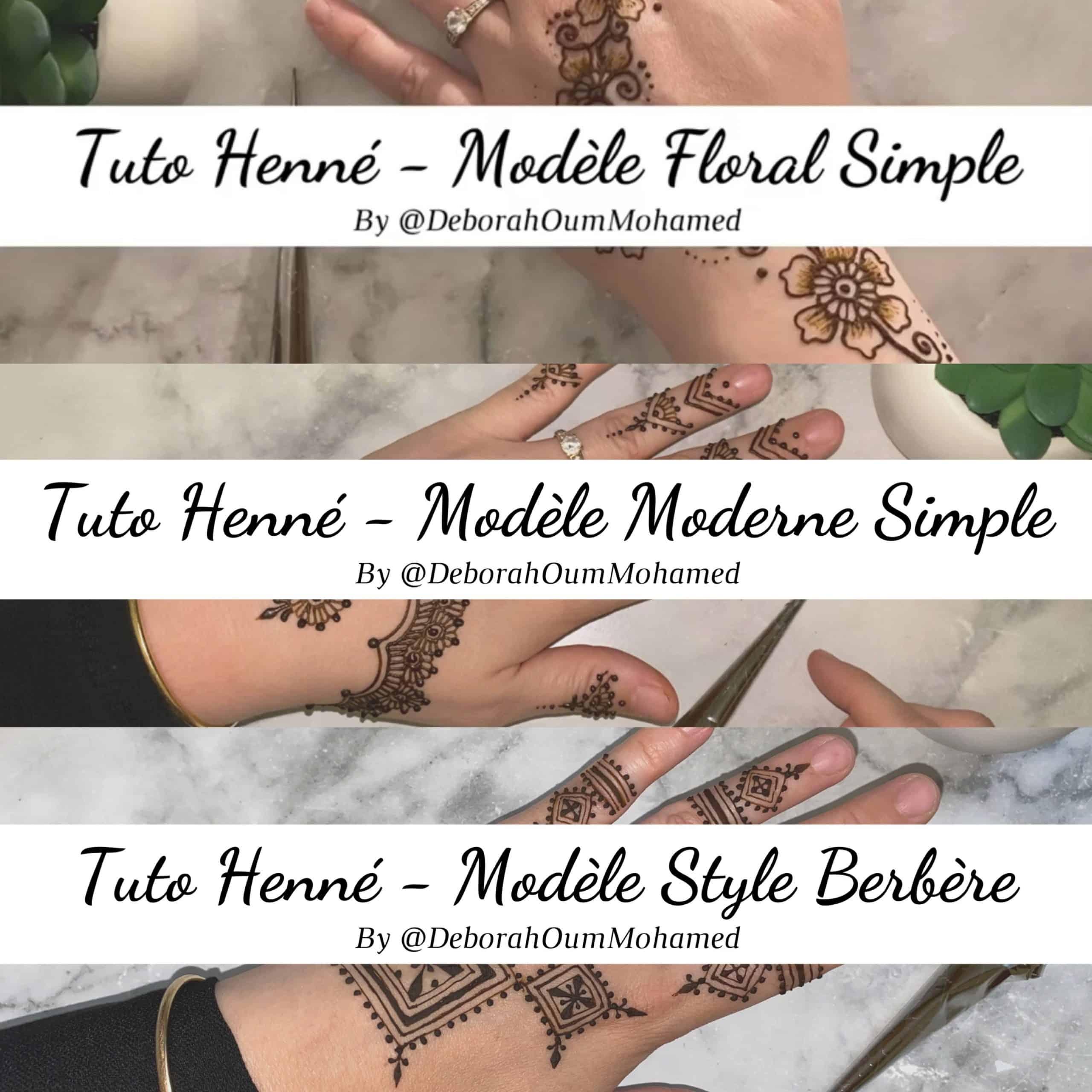 3 tutos henné accessible à toutes.